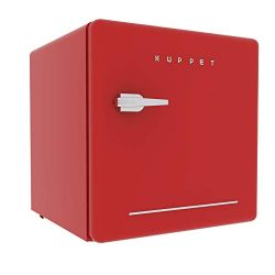 KUPPET Classic Retro Compact Refrigerator Single Door, Mini Fridge with Freezer, Small Drink Chi ...