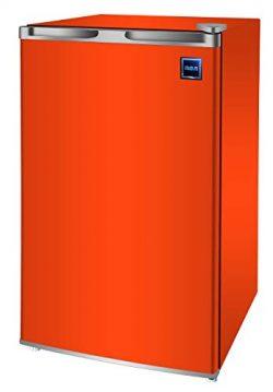 RCA RFR321-FR320/8 IGLOO Mini Refrigerator, 3.2 Cu Ft Fridge, Orange (Renewed)