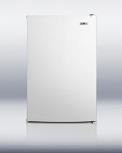 Summit FS603 22″ Compact Upright Freezer with 5 cu. ft. Capacity Adjustable Thermostat Wir ...