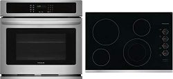 Frigidaire 2 Piece Kitchen Appliances Package with FFEW2726TS 27″ Electric Single Wall Ove ...