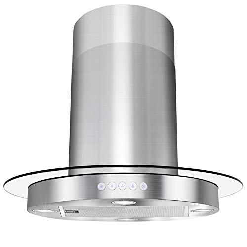 AKDY Island Mount Range Hood -30″ Stainless-Steel Hood Fan for Kitchen – 3-Speed Pro ...