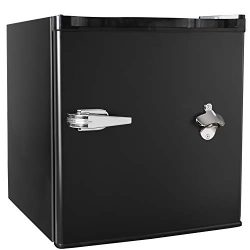 Tavata 1.6 Cu Ft Compact Refrigerator Single Door Mini Fridge with Freezer,Bottle Opener,Handle  ...