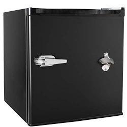 Tavata 1.6 Cu Ft Compact Refrigerator Single Door Mini Fridge with Freezer,Bottle Opener,Handle  ...