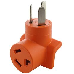 AC WORKS [AD10501030] 10-50P 50-Amp 3-Prong Old Style Dryer/Range Plug to 10-30R 3-Prong Dryer O ...