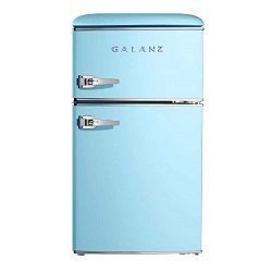 Galanz GLR31TBEER Retro Fridge, 3.1 Cu.Ft, Blue