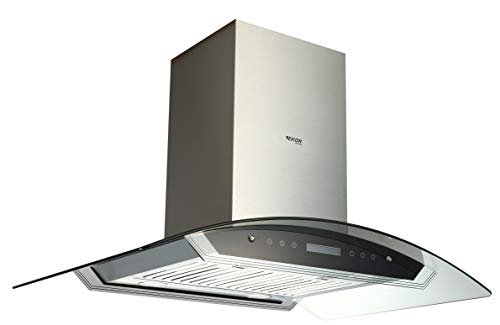 EKON NAIS01-36″ Island Mount Kitchen Range Hood / 2 Pcs 4 Speeds Touch Control LCD Display ...