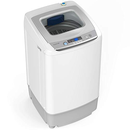 hOmeLabs 0.9 Cu. Ft. Portable Washing Machine – 9 Pound Capacity, Top Loading, 5 Wash Cycl ...