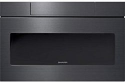 Sharp SMD2470AH 24″ Microwave Drawer with 1.2 cu. ft. Capacity in Black Stainless Steel