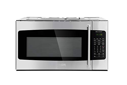 Thor Kitchen Appliance 30 in. W 1.7 cu. ft Over the Range Microwave in Stainless Steel with Sens ...
