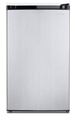 Daewoo FR-044RVSE Compact Refrigerator 4.4 Cu. Ft. | Silver