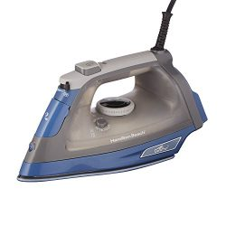 Hamilton Beach 1500 Watt Durathon Nonstick Steam Iron, Anti-Drip, 3-Way Auto Shut Off, Vertical  ...