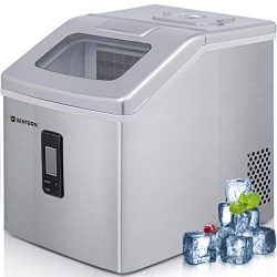 Sentern Portable Electric Clear Ice Maker Machine Stainless Steel Countertop Ice Making Machine  ...