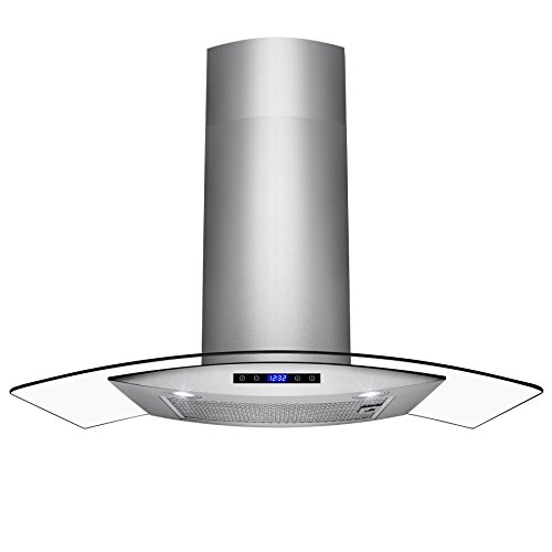 AKDY 30″ Wall Mount Stainless Steel Touch Panel Kitchen Range Hood Cooking Fan