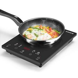 SUNAVO Portable Induction Cooktop Countertop Burner with Timer 15 Temperature Power Setting CB-I11A
