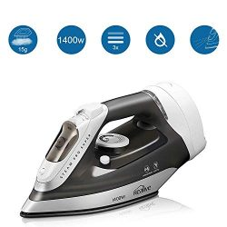 kealive Steam Iron, Vertical Steamer with Anti-Calcium System, Non-Stick Soleplate, Self-Cleanin ...