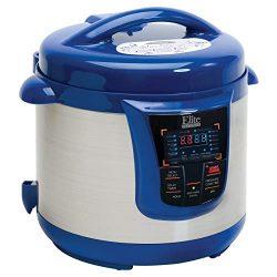 Elite Platinum 8 Quart 14-in-1 Multi-Use Programmable Pressure Cooker, Slow Cooker, Browning, Ri ...