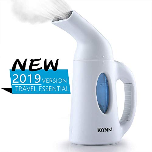 KOMKI Steamer for Clothes, Travel Garment Steamer 60s Fast Heat-up Continuous Powerful Steam Ant ...