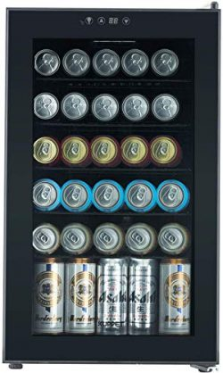 KUPPET Beverage Cooler and Refrigerator, Mini Fridge for Home, Office or Bar with Glass Door and ...
