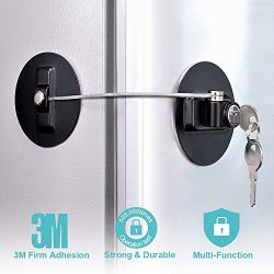 Refrigerator Lock, Fridge Lock with keys, Rustproof Freezer Lock with Strong 3M Adhesives, Heavy ...