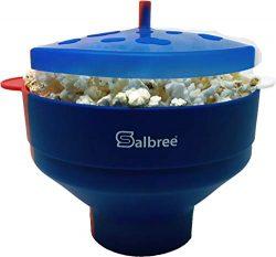 Original Salbree Red White & Blue, American Pride, Microwave Popcorn Popper, Silicone Popcor ...