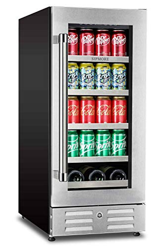 Sipmore Beverage Refrigerator and Wine Cooler – Fit Perfectly into 15 inch Space – S ...