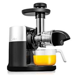 Ivation Slow Masticating Juicer Machine, High Yield Nutrient Juice Extractor, Cold Press Healthy ...