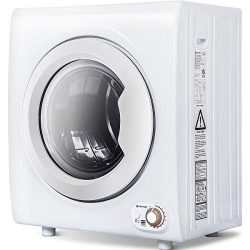 Sentern 2.65 Cu.Ft Compact Laundry Dryer – 9 LBS Capacity Portable Clothes Dryer with 1400 ...