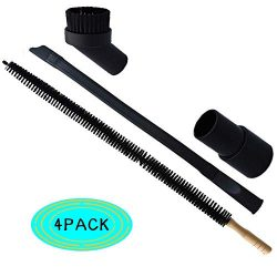 Dryer Vent Cleaner Kit -30inch Clothes Lint Trap Flexible Brush and 1.25 inch Crevice Tool Brush ...
