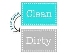3.5″ X 2″ Double Sided Dishwasher Flip CLEAN & DIRTY Premium Dishwasher Magnet M ...