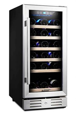 "Kalamera 15"" Wine Cooler 30 Bottle Built-in or Freestanding with Stainless Steel & Dou ..."