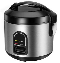 Electric Rice Cooker Food Steamer, CUSINAID Smart 10 cup Rice Cooker Steamer with Automatic Keep ...