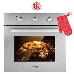 Wall Oven, Gasland chef ES606MS 24″ Built-in Single Wall Oven, 6 Cooking Function, Stainle ...