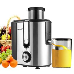 Centrifugal Juicer Machine, HERRCHEF 600W Compact Juice Extractor, BPA Free Dual Speeds Stainles ...