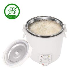 1.2L Reduce Sugar Small Rice Cooker, WHITE TIGER Low Starch Cooking Portable Hypoglycemic Mini R ...