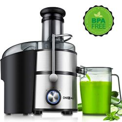 Juicer, Oneisall Juice Extractor 800W Easy to Clean Extractor Press Centrifugal Juicing Machine, ...