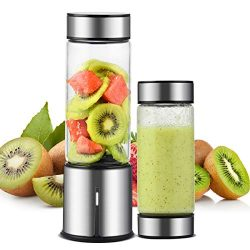 Portable Blender, TTLIFE 450ML Personal Juicer Blender with Double Cover, 5000mAH USB Rechargeab ...