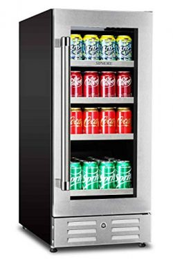 Sipmore Beverage Refrigerator and Cooler – Fit Perfectly into 15 inch Space – Stainl ...