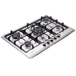 Deli-kit DK257-A02 30″ LPG/NG Gas Cooktop gas hob stovetop 5 burners Dual Fuel 5 Sealed Bu ...