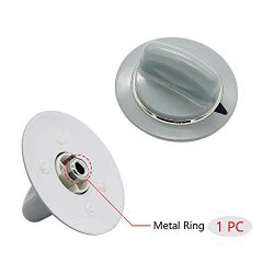 Replacement Timer Control Knob WE1M964 with Reinforced Metal Ring By AMI Exact for GE Dryer AP49 ...