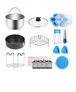 Fopurs 8 Quart Pressure Cookers Accessories Set, Compatible with Instant Pot 8 Qt [6Qt Available ...
