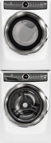 Electrolux White Front Load Laundry Pair with EFLS527UIW 27″ Washer, EFME527UIW 27″  ...