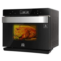 Vestaware Convection Toaster Oven, 32QT Smart Steam Oven LED Display Wall Oven with 5 Predefined ...