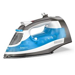 BLACK+DECKER ICR19XS One Step Steam Iron with with Stainless Nonstick Soleplate and Cord Reel, S ...