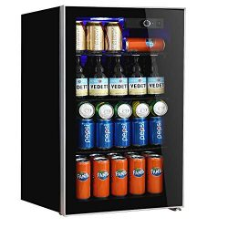Beverage Refrigerator and Cooler,113 Can or 60 Bottles Capacity with Glass Door for Soda Beer or ...