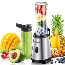 Personal Blender, Decen Smoothies Blender, Single Serve Blender for Smoothies and Shakes with 2  ...