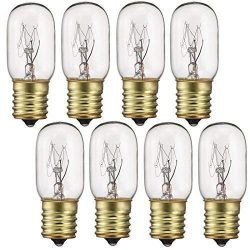 40 Watt Appliance Light Bulb, T8 Tubular Incandescen Light Bulbs, Microwave Oven Bulb, E17 Indic ...