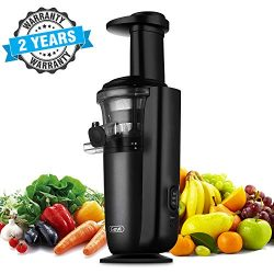 Slow Masticating Juicer with Slow Press Masticating Squeezer Technology for Fruits, Vegetables a ...