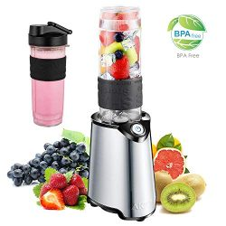 Personal Blender, Aicok Smoothie Blender, Single Serve Blender for Juice Shakes and Ice, with 21 ...