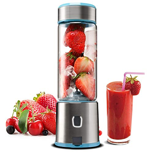 Portable Blender Glass, TTLIFE USB Rechargeable Personal Blender, Smoothie Blender Juicer Cup, S ...