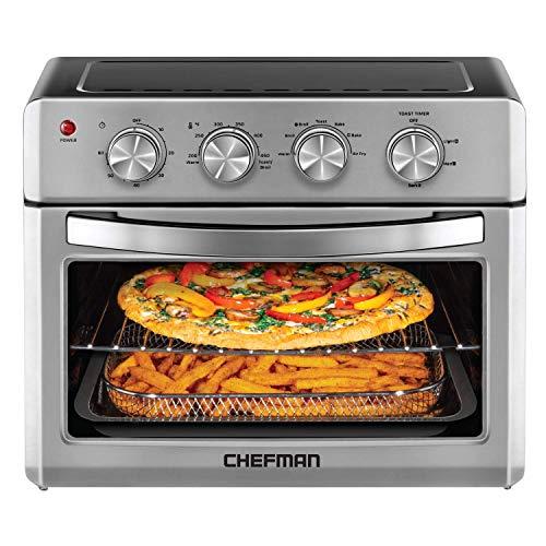 Chefman Air Fryer Toaster Oven, XL 6 Slice, 25 Liter Convection AirFryer with Auto Shut-Off & ...